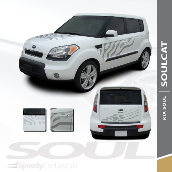 SOULCAT Kia Soul Decals Stripe Vinyl Graphics Kits   2010-2013 Wet Install and Dry Install