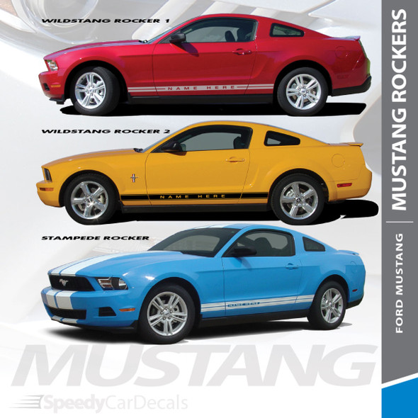 STAMPEDE ROCKER : 2010-2012 Ford Mustang Lower Rocker Panel Stripes Vinyl Graphic Decals