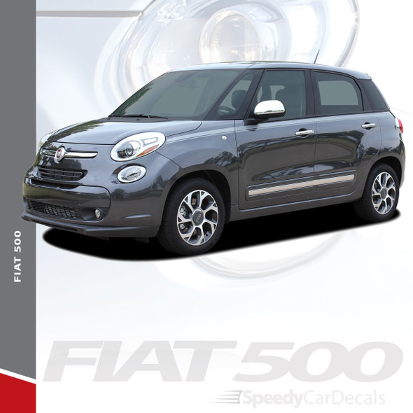 STRAIGHTAWAY : 2014-2019 Fiat 500L Abarth Upper Side Door Vinyl Graphics Stripes Decals Kit