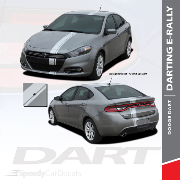 DART E-RALLY : 2013-2016 Dodge Dart Bumper to Bumper Euro Rally Racing Stripes Kit