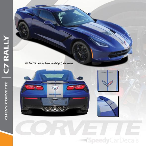 Chevy C7 Corvette 2014-2018   C7 Corvette Rally Racing Stripes Decals