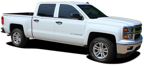 Profile View Chevy Silverado Upper Body Vinyl Graphics ELITE 2013-2019