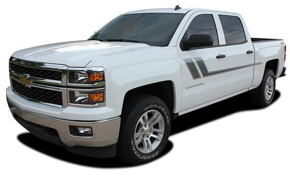 TRACK XL | Chevy Silverado Bed Stripes side decals 2013-2018