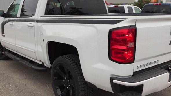 Chevy Silverado Special Ops Decals Matte Black FLOW 3M 2016-2018