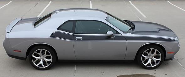Passenger side R/T 392 Dodge Challenger TA Stripes PURSUIT 2011-2021