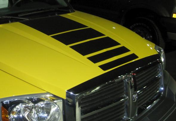 Hood of Yellow 2016 Dodge Ram Graphics POWER 2009-2015 2016 2017 2018