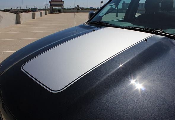 Hood Stripes for Dodge Ram Center Dodge 1500 Ram Hood Stripes 2009-2018