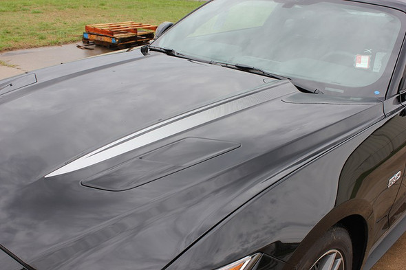 Ford Mustang Faded Hood Stripes Decals HOOD SPEARS 2015-2017