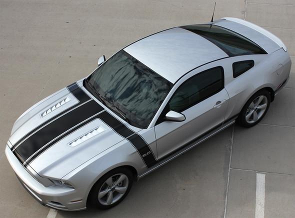 2013 Ford Mustang Side Hood Stripes 3M PRIME 1 2013-2014