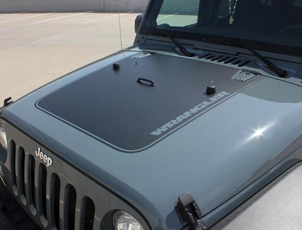 Jeep Wrangler hood stripe OUTFITTER HOOD 2008-2015 2016 2017