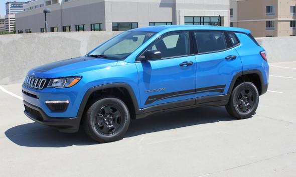 Side of Blue 2019 Jeep Compass Stripes COURSE ROCKER 2017-2020 2021