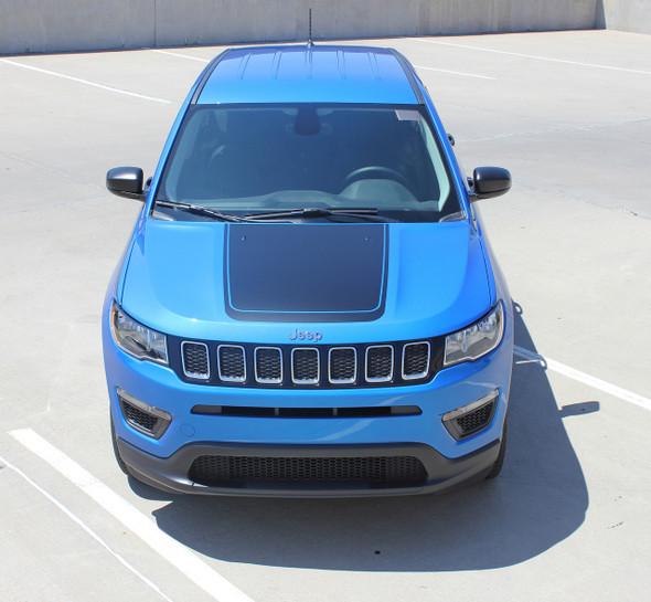 Hood of blue 2019 Jeep Compass Hood Graphics BEARING HOOD 2017-2019 2020 2021