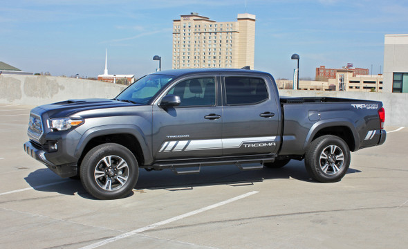 Driver side of 2019 TRD 4x4 Toyota Tacoma Side Graphics CORE 2016-2020 2021
