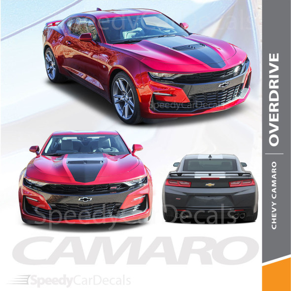 Chevy Camaro SS Stripes OVERDRIVE 19 Rally Decals Vinyl Graphics 2019 Wet and Dry Install
