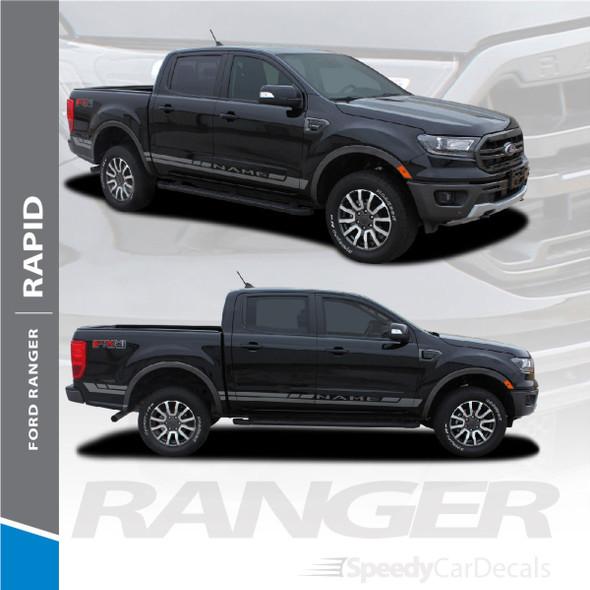 Ford Ranger Side Door Stripes Vinyl Graphics RAPID ROCKER 3M 2019 2020 2021