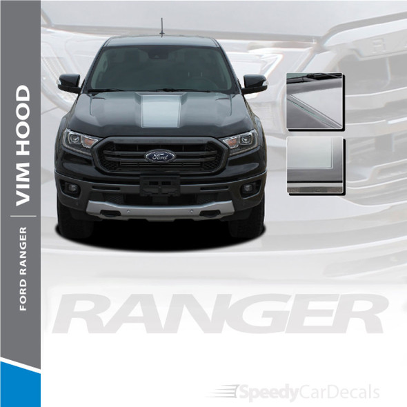 2019 2020 2021 Ford Ranger Hood Stripes VIM HOOD Decals Vinyl Graphics 3M Wet and Dry Install