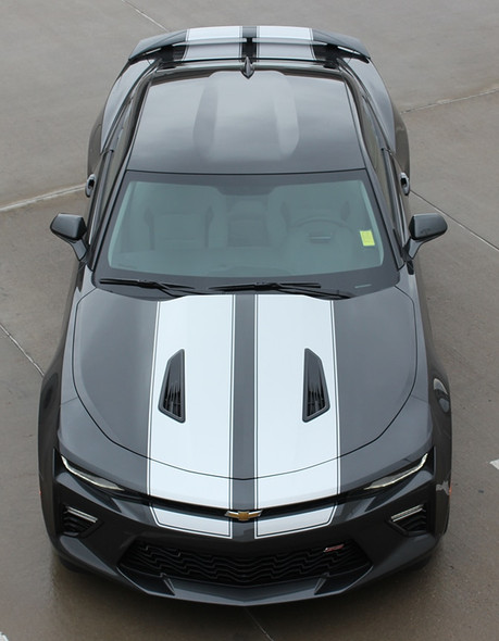 Front view 2017 Chevy Camaro Racing Stripes 3M CAM SPORT PIN 2016-2018