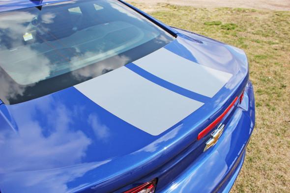 Silver Stripe on Blue Camaro | 2019 Chevy Camaro Graphics Package REV SPORT 2019-2020