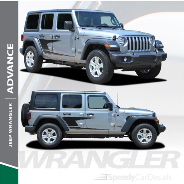 2019 Jeep Wrangler Side Stripes ADVANCE SIDE KIT 2018-2020 2021