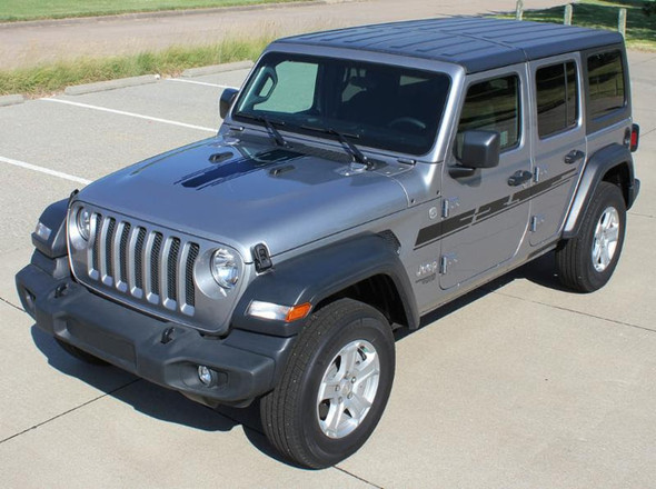 Hood and Side View of 2019 Jeep Wrangler Graphics MOJAVE and ACCENTS 2018-2020 2021