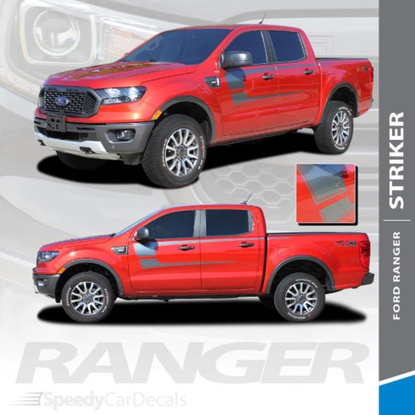 2019 2020 2021 Ford Ranger Side Stripes STRIKER 3M Premium Auto Striping