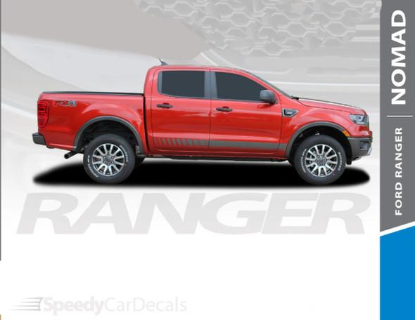 2019 2020 2021 Ford Ranger Side Rocker Stripes NOMAD 3M Premium Auto Striping