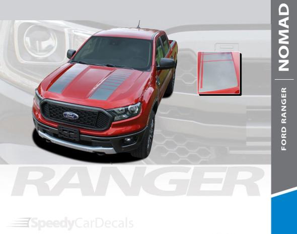 2019 2020 2021 Ford Ranger Hood Stripes NOMAD HOOD 3M Premium Auto Striping