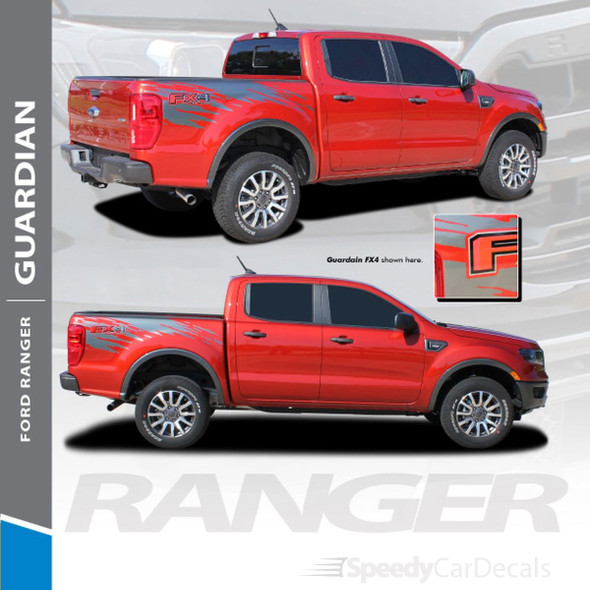 2019 2020 2021 2021 Ford Ranger Side Bed Stripes GUARDIAN 3M Premium Auto Striping