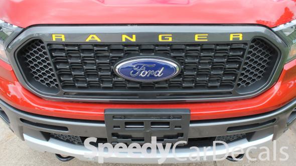 Ford Ranger Grill Stripes RANGER GRILL LETTERS 2019-2020 2021   Standard Vinyl