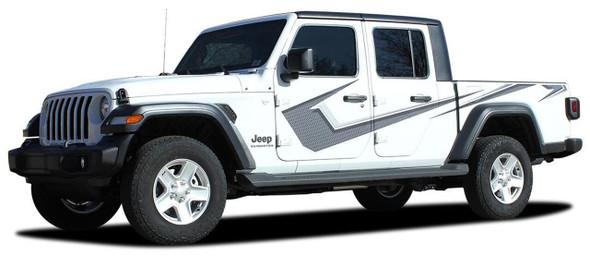Profile of PARAMOUNT DIGITAL Jeep Gladiator Side Digital Graphics Decal Stripe Kit for 2020-2021