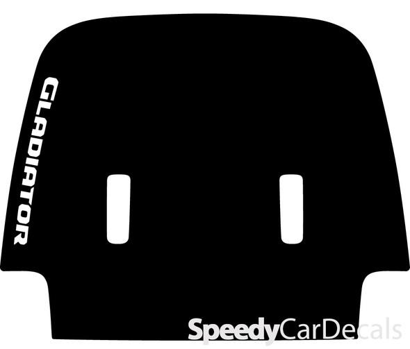 2020 Jeep Gladiator Hood Decals SPORT HOOD with Text Premium Auto Stripe Kits