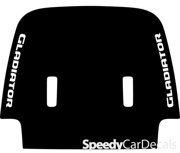 2020 Jeep Gladiator Hood Decals SPORT HOOD with Double Text Premium Auto Stripe Kits