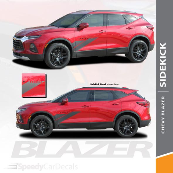 Chevy Blazer Side Stripes Decals SIDEKICK Vinyl Graphic Kits 2019 2020 2021 Premium Auto Striping Vinyl (SCD-6819)