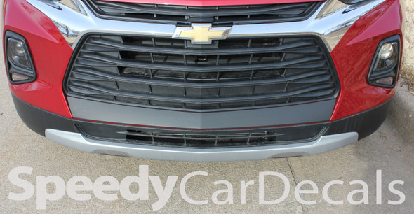 Front View of ERASER BUMPER GRAPHIC | 2019 2020 2021 Chevy Blazer Front Bumper Stripes
