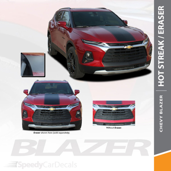 Chevy Blazer Hood Stripes Decals HOTSTREAK Vinyl Graphic Kits 2019 2020 Premium Auto Striping Vinyl (SCD-6814)