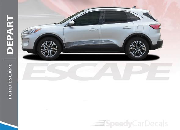 2020-2021 Ford Escape Side Graphics Stripes DEPART SIDES 3M
