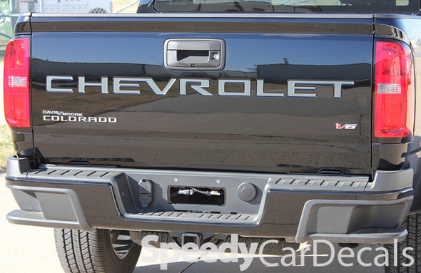 Chevy Colorado Tailgate Letter Decals Rear Stickers COLORADO TAIL GATE Stripes Vinyl Graphics 2021 Premium Auto Striping Vinyl