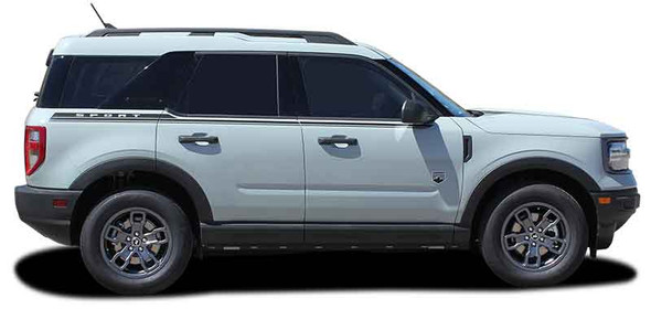 2021 Ford Bronco Side Stripes LINEAR 3M Premium Auto Striping