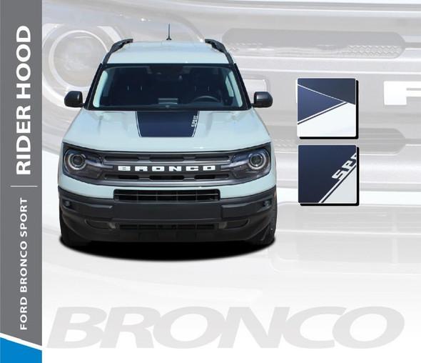2021 Ford Bronco Hood Stripes RIDER HOOD 3M Premium Auto Striping