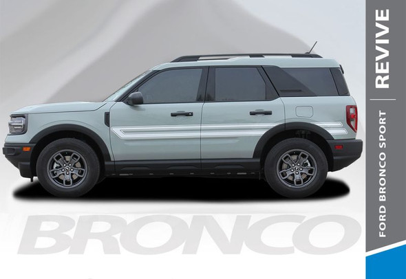 2021 Ford Bronco Side Door Stripes REVIVE SIDES 3M Premium Auto Striping