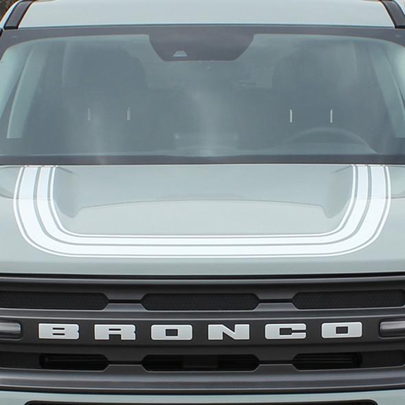 NEW 2021 Ford Bronco Hood Stripe Decals REVIVE HOOD All Models