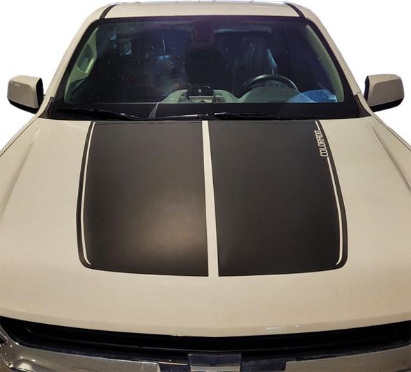2015-2022 Chevy Colorado Hood Stripes Duel Racing Decals SUMMIT