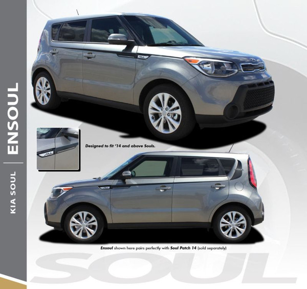 Kia Soul ENSOUL Upper Body Line Accent Striping Vinyl Graphics Decals Kit for 2014 2015 2016 2017 2018 2019