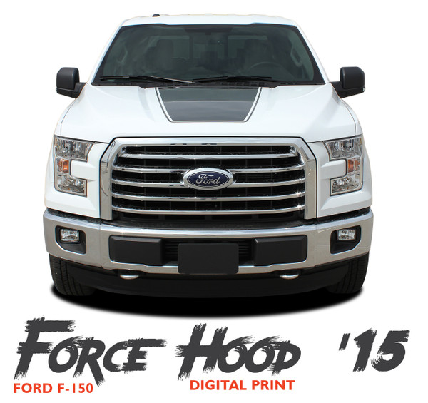 Ford F-150 FORCE HOOD 15 DIGITAL Appearance Package Center Wide Hood Vinyl Graphic Decal Kit for 2015 2016 2017 2018 2019