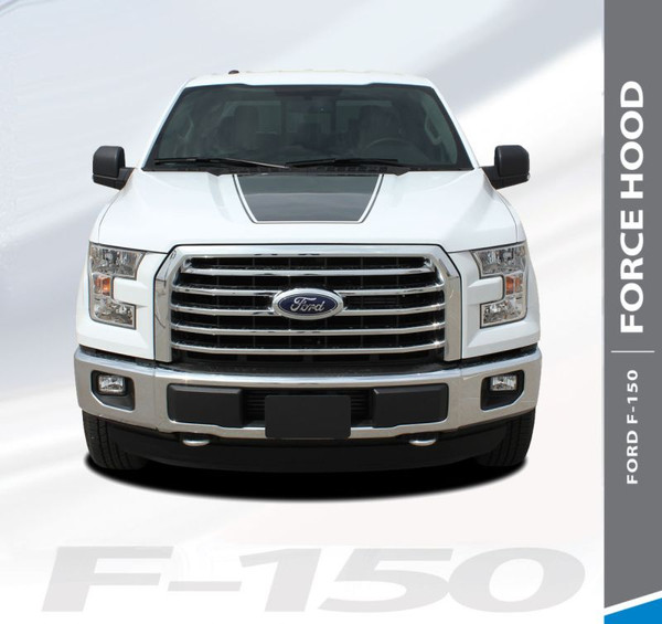 Ford F-150 FORCE HOOD 15 SOLID Appearance Package Center Wide Hood Vinyl Graphic Decal Kit for 2015 2016 2017 2018 2019