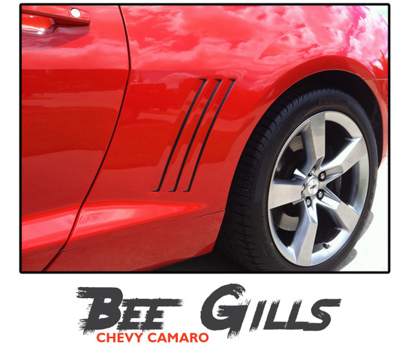 Chevy Camaro BEE GILL STRIPES Vinyl Graphic Vent Striping Accent Decals Kit for 2010 2011 2012 2013 2014 2015 for All Models