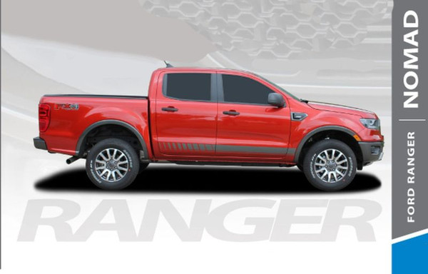 2019 Ford Ranger Rocker Panel Door Stripes NOMAD ROCKER Body Vinyl Graphics Decal Kit 2019 2020