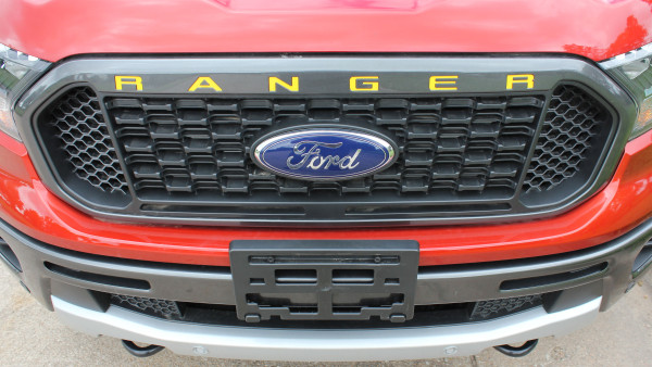 Ford Ranger Grill Letters Inlay Decals Stripes GRILL TEXT Vinyl Graphics Kit 2019 2020