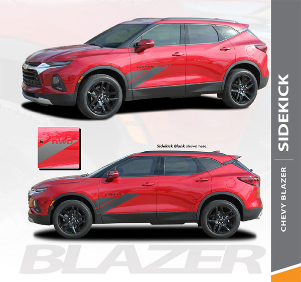 Chevy Blazer SIDEKICK Door Decals and Stripes Decals Accent Vinyl Graphic Decal Stripe Kit 2019 2020 (6819)
