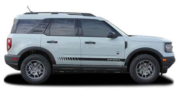 Profile view of NEW! Ford Bronco Side Door Stripes BREAK ROCKER 2021+ All Models